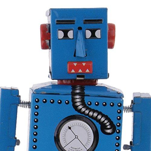 Jili Online 3PCS Vintage Tin Toy Mechanical Clockwork Lilliput Robot Collectible Models by Jili Online (Image #7)