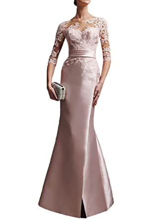 La Mariee Sparkle Satin Mermaid Formal Prom Dresses with Lace Bodice New-2-Pearl