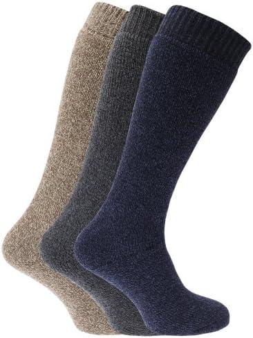 Femme Thermique Hautes Chaussettes Coton 4-7 wellingtyon Bottes