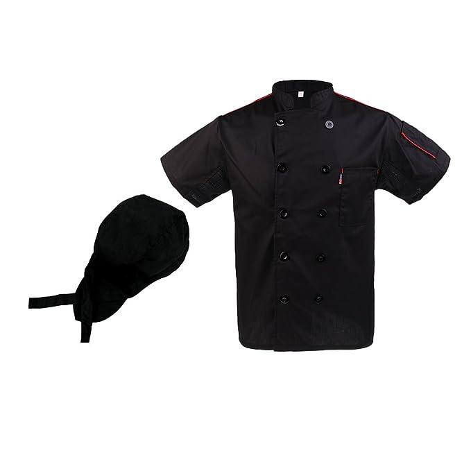 Baoblaze Chaqueta Cómoda de Chef Cocinero Antiarrugas Secado Rápido Cocinero Hotel Uniforme pI3zlg9kw