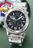 [ニクソン] NIXON 腕時計 メンズ レディース 42-20 クロノグラフ ブラック×シルバー メンズウォッチ 男性用 レディースウォッチ 女性用 A037-000 A037000U [並行輸入品]