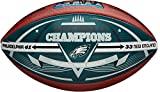 Philadelphia Eagles Super Bowl LII Champions Commemorative Wilson Football with Team Color Panel - Fanatics Authentic Certified