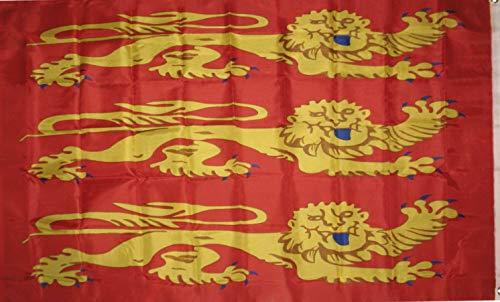 Hebel 3x5 King Richard of England Banner Lion Heart Royalty Flag 3x5 | Model FLG - 494