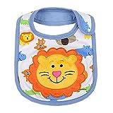 Lovely Smile Lions Cotton/PVC Adjustable Waterproof Baby Bib Pocket Bib 612''