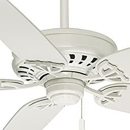Casablanca 54019 Concentra 54-Inch 5-Blade Ceiling Fan, Snow White with Matte Snow White Blades
