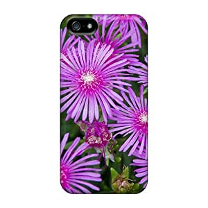 Durable Defender Cases For Iphone 5/5s Covers(pink Flowers Portulaca)