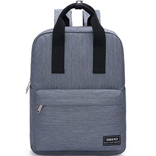 Tinyat T809 College Book Bag/Hiking Backpack, Grey (Netbook Sport Case)