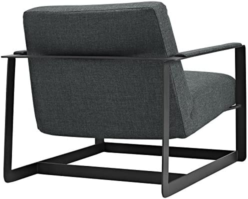 Modway EEI-2074-GRY Seg Upholstered Fabric Accent Chair, Gray, Twin