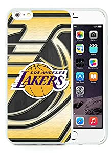New Custom Design Cover Case For iPhone 6 Plus 5.5 Inch LA lakers 7 White Phone Case
