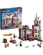 LEGO 60215 City Fire Brandweerkazerne Speelgoed met Brandweerauto Waterscooter en 3 Brandweermannen voor Kinderen vanaf 5 Jaar