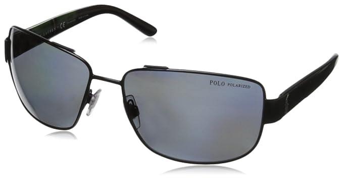 9eabdcfe2b5f Image Unavailable. Image not available for. Colour: Polo Ralph Lauren Men's  PH3087 Polarized Rectangular Sunglasses ...