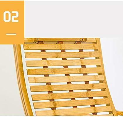 Reclinables Feifei Silla con tumbonas de Sol Empalme de bambú ...
