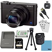 Sony DSC-RX100M III Cyber-shot Digital Still Camera Bundle with 64GB Card, Spare Battery, Rapid AC/DC Charger, SD Card Reader, Case, LCD Screen Protectors, and Table top Tripod Basic Facts Review Image