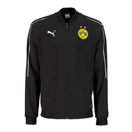 4205f4d23647 Amazon.com   PUMA 2018-2019 Borussia Dortmund Leisure Jacket (Black)    Sports   Outdoors