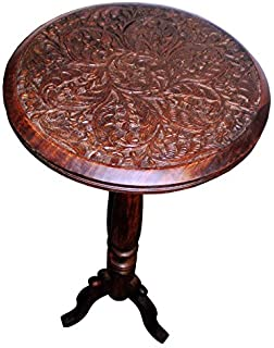 Cotton Craft   Jaipur Solid Wood Handcrafted Carved Folding Accent Coffee  Table   Choose From Antique