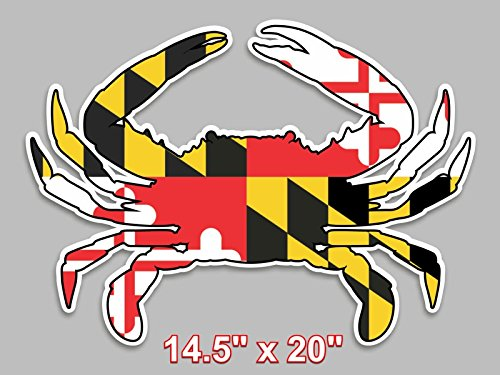 Maryland flag blue crab decal large 14 5 x 20 vinyl sticker for truck car window cornhole board buy online in uae products in the uae see prices