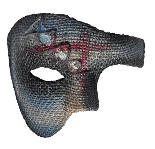 Arsimus Half Face Zombie Mask Halloween (Half Zombie Halloween Costume)