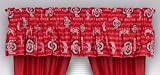 Sports Coverage NCAA Ohio State Buckeyes All Over Valance, 88 x 14, Bright Red