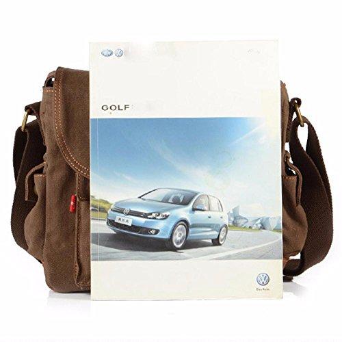 Bag Business Canvas Travel Brown Outdoor Mens Sport Briefcase Shoulder Peak ZxnYgpq1wt