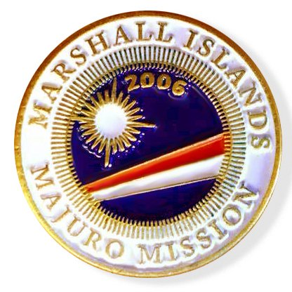 (LDS Marshall Islands Majuro Mission Commemorative Lapel Pin)