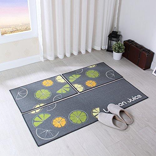 Carvapet 3 Piece Non Slip Kitchen Mat Rubber Backing Doormat Runner Rug Set Ebay