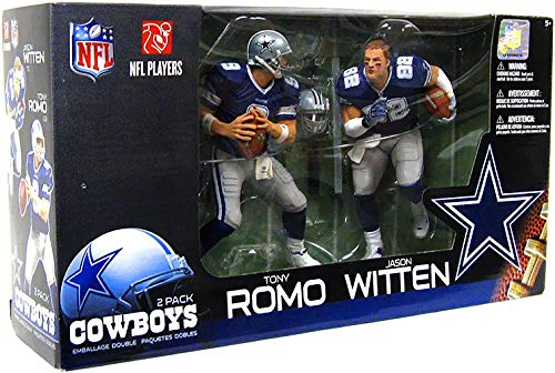 - McFarlane Toys 2 Pack Dallas Cowboys Blue Jersey Tony Romo/ Jason Witten Figurines