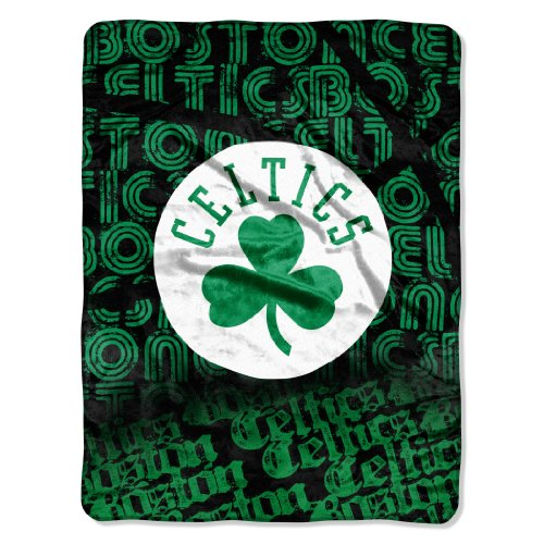 Micro Raschel Nba Blanket - NBA Boston Celtics Redux Micro Raschel Throw Blanket, 46x60-Inch