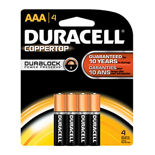Duracell Coppertop AAA Batteries, 4 Count
