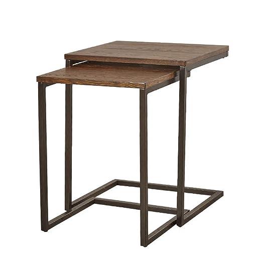 YNN Table Nido de 2 mesas, Mesa Auxiliar Multifuncional Mesas de ...