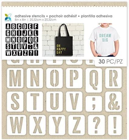 Momenta Uppercase San Serif Alphabets Adhesive Fabric Stencil