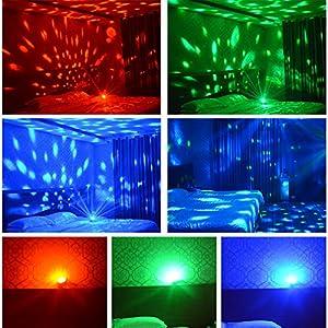 519Q03CAv1L. SS300  - LED-Discokugel-Nakalus-Party-Lampe-DiscoLicht-Musikgesteuert-Mit-Remote-Steuerung-Bhnenbeleuchtung-7-Farbe-RGB-Led-Effekt-Lampe