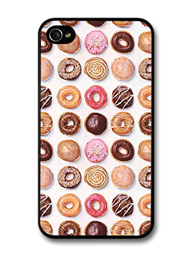 Cool Cute Donuts Pattern Food Snack Delicious Sugar case for iPhone 4 4S