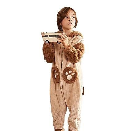 Camisones Ropa para Dormir y Batas Pijamas para niños Pijamas de Invierno Forro de Coral para
