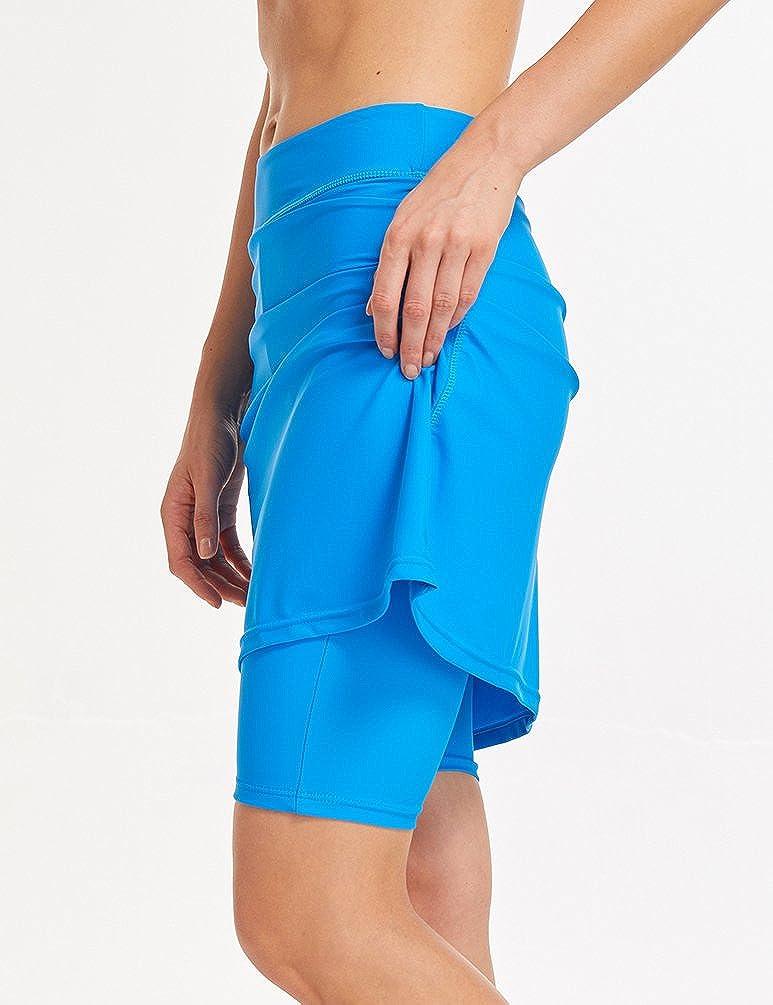 LAUSONS Femme Maillot de Bain Jupe Short Shorts de Bain Femme Jupette de Bain Taille Haute