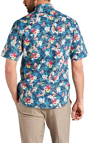 Eterna Half Sleeve Shirt Modern FIT Poplin Printed