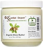 Shea Butter - 16 oz. - Organic - Unrefined - In HDPE Jar