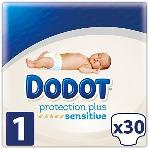 Dodot Sensitive - Pañales para bebé, talla 1 (2-5 kg) , 4 packs de ...