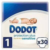 Dodot Sensitive - Pañales para bebé, talla 1 (2 - 5 kg) , 4 packs de 30, 120 pañales