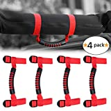 Automotive : Roll Bar Heavy Duty Grab Handle with Adjustable Straps for Jeep Wrangler YJ TJ JK JL Sports Sahara Freedom Rubicon X Unlimited 1955-2018 (4 pack-Red)