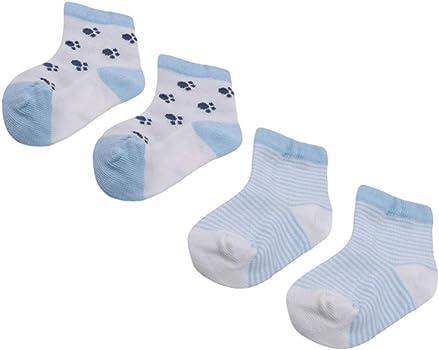 Blue Dog M CH Baby Summer Warm Cotton Mesh Thin Socks Cute Cartoon Sweet Animal ShapedSoft Breathable Socks Good For Gift 5pcs