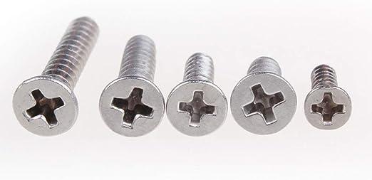 sourcingmap/® M5,5x25mm 316 Phillips de cabeza plana de acero inoxidable pernos autorroscantes 20pcs