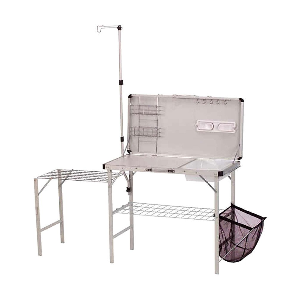 Pack Away Kitchen Set, Outdoor and Indoor Aluminum Kitchen, Contemporary Deluxe Utility Heavy Duty Kitchen & E-Book