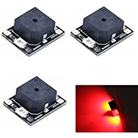 NIDICI 3pcs LANTIAN Loud Beeper LED Buzzer Alarm Tracker BB Ring for NAZE32 F3 F4 F7 Flight Controller FPV Racing Drone