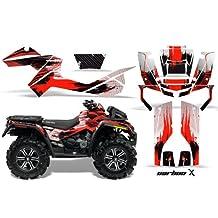 AMR Racing Graphics Can-Am Outlander XMR 500 650 800R 2006-2012 ATV Vinyl Wrap Kit - Carbon X Red