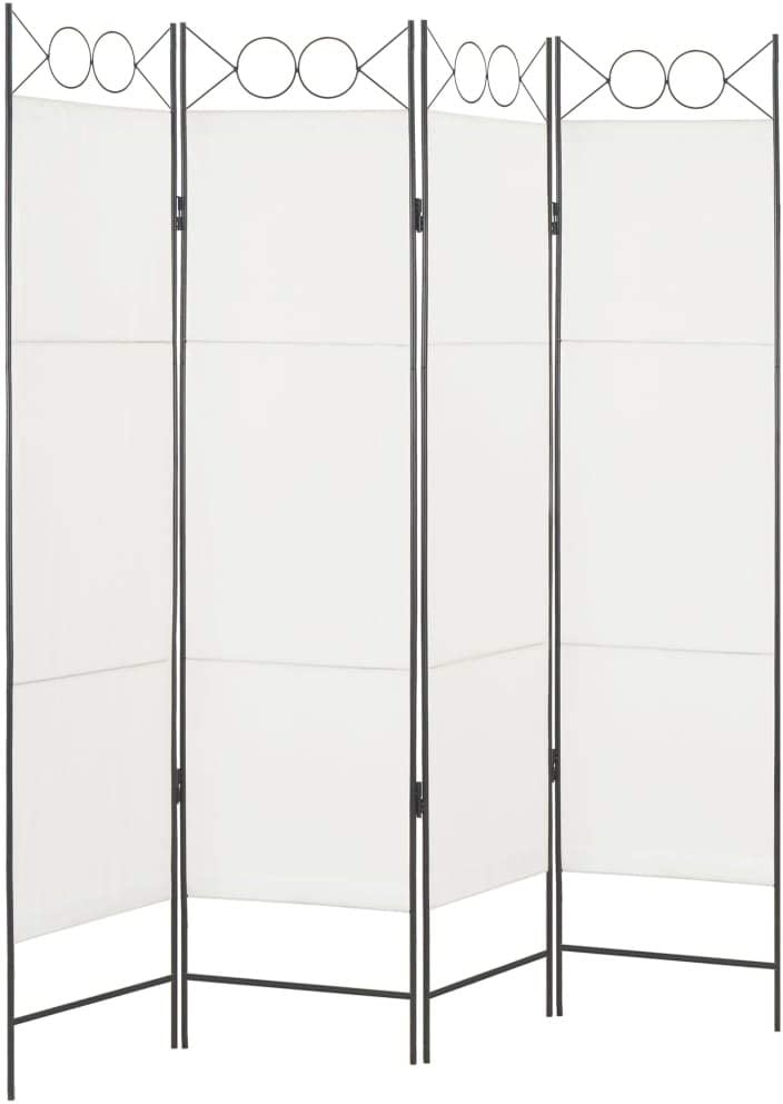 vidaXL Biombo Divisor de 4 Paneles de Tela Divisor Ambientes Separación Paneles Plegables Ideal Vestidor Privado Privacidad Duradero Blanca 160x180cm: Amazon.es: Hogar