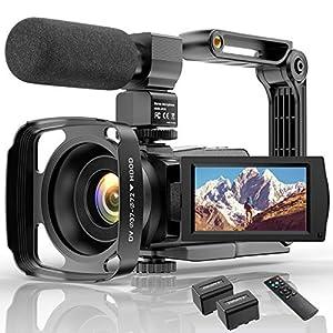 Flashandfocus.com 519Q1isYWdL._SS300_ 4K Video Camera HD Digital Camcorders Video Camera for YouTube Vlogging Camera, 48MP 16X Digital Zoom IR Night Vision…
