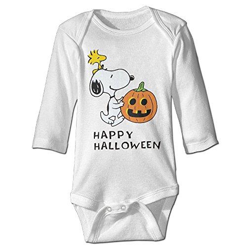 Cute Baby Onesies Halloween Pumkin Comic Strip Peanuts