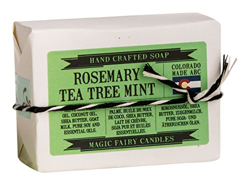Magic Fairy Candles Rosemary Tea Tree Mint Goat Milk Soap all Natural Hand Crafted 2 - 4oz Bars