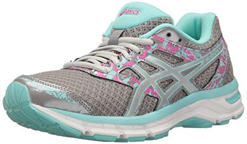 ASICS Women's Gel-Excite 4 Running Shoe, Aluminum/Silver/Aqua Splash, 9.5 M US