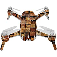 Skin For Yuneec Breeze 4K Drone – Stacked Wood | MightySkins Protective, Durable, and Unique Vinyl Decal wrap cover | Easy To Apply, Remove, and Change Styles | Made in the USA